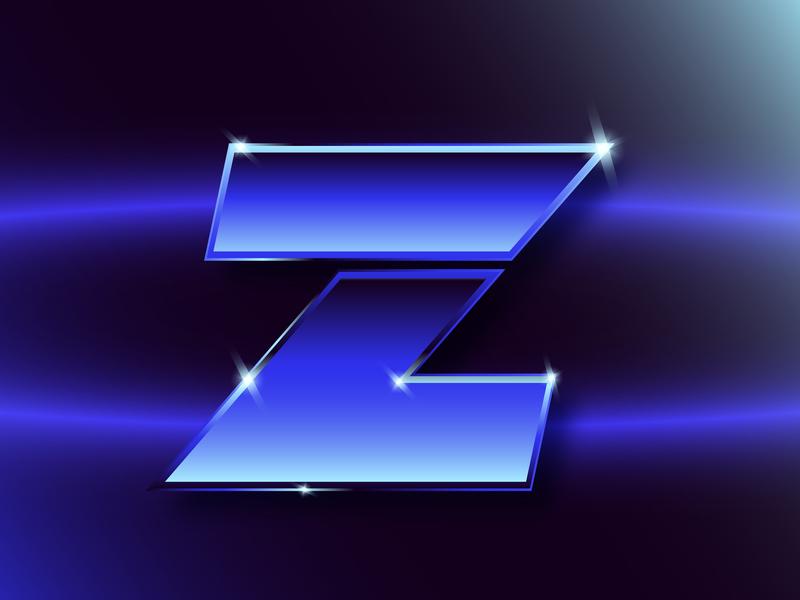 Z typographic typography gradient 80s retro letter