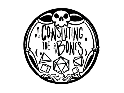 Consulting the bones flat typography vector design illustration