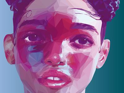 FKA TWIGS LowPoly Portrait  vector digitalart illustration portrait lowpoly fkatwigs