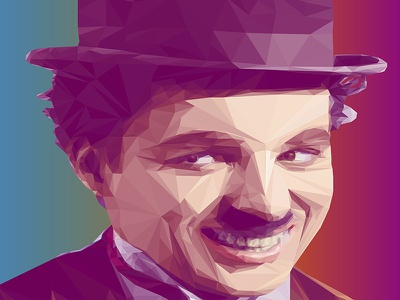 Charlie Chaplin LowPoly Portrait  vector digitalart illustration portrait lowpoly charliechaplin