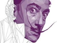 Salvador Dali LowPoly Portrait Process