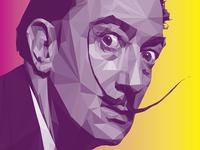 Salvador Dali LowPoly Portrait