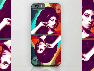 LowPoly Design Store: Amy Winehouse  Collection vector digitalart illustration portrait lowpoly amywinehouse