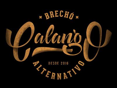 Calango Brechó branding logo handmadefont lettering alternativo alternative brechó letter calango