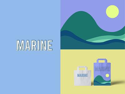 MARINE Brand Project design illustration illustrator logo design brand branding logo graphic design