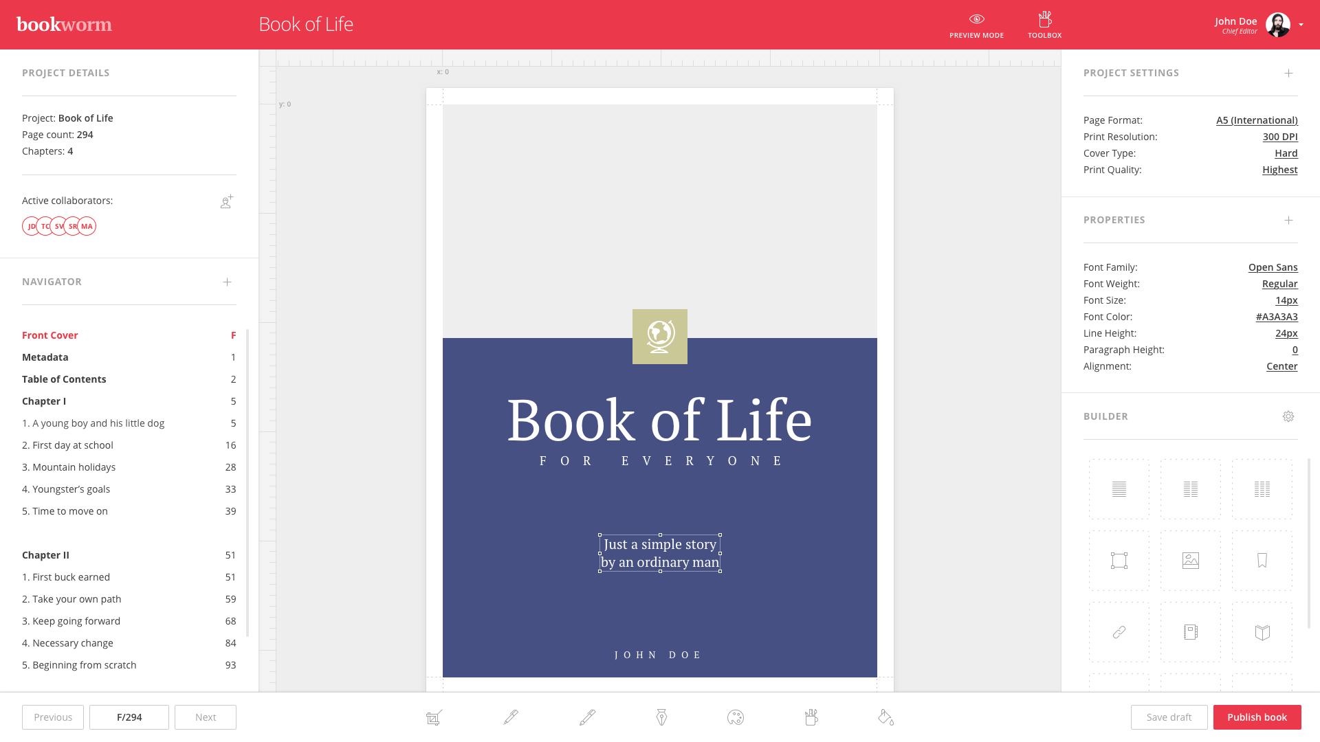 Bookworm demo