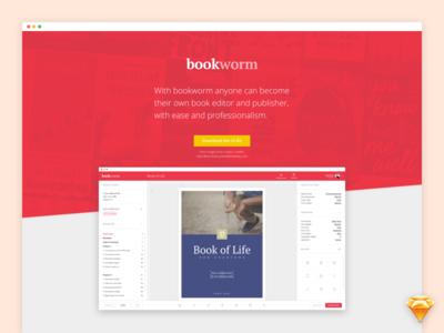 Bookworm UI Kit - Landing Page