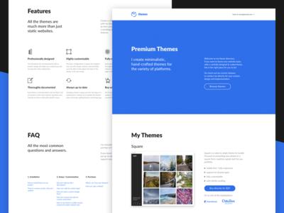 My Themes (maciejjasinski.com) development end front design tumblr theme themes page landing webpage website web