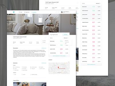 Intellirent Property Details view details property intellirent rent applicants ui dashboard app web