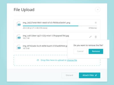 File Uploader ui mobile app web intellirent uploader upload files file