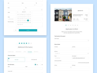 Application Form calendar input rental fill form applicant application intellirent rent ui app web