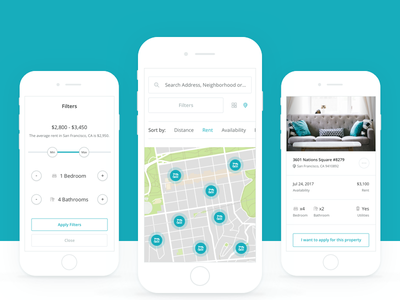 Discover Properties Mobile discover properties property search map applicant application intellirent rent ui app web