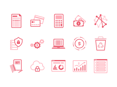 Icons web app management parcel land icon icons set pack stroke fill ui