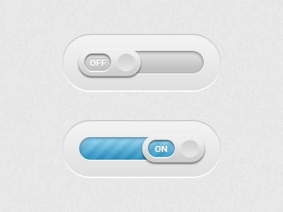 On/Off Sliders ui slider on off progress bar slide blue