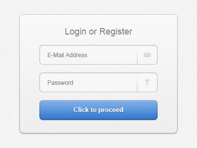 e25646dbc40 Login or Register ui login register form email mail password button light
