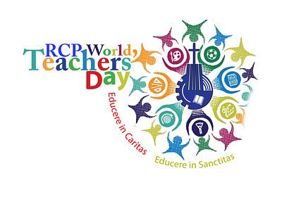 Teachers Day branding vector logo illustration design
