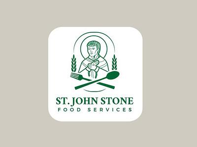 St. John Stone logo logo graphic design