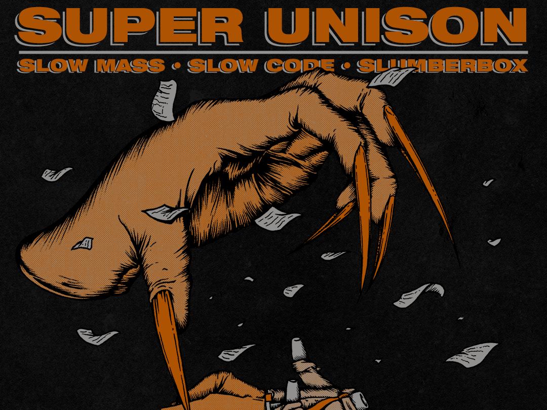 Super Unison hands gig rockposter design drawing poster art gig poster illustration