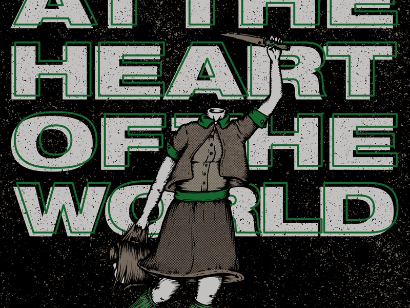 At the Heart of the World textured design line art comic art show poster halftones hand drawn rockposter gig gigposter poster bands poster art drawing gig poster illustration