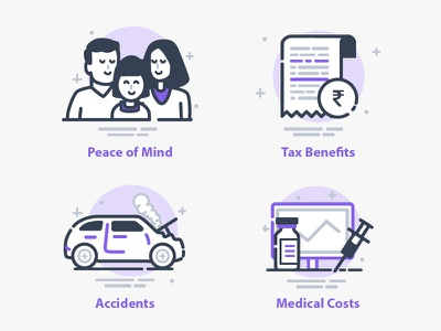 Insurance Icons icons tax ui clean illustration icon insurance