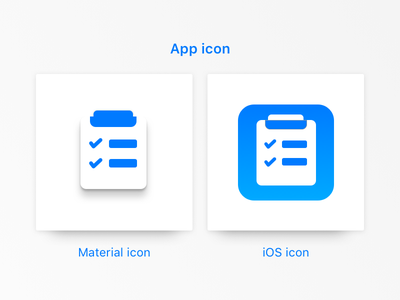 App Icon for Task Management System blue clean ux ui checklist task illustration ios android material icon app