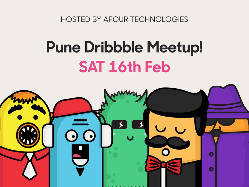Pune Dribbble Meetup! dribbble india pune meetup design illustration
