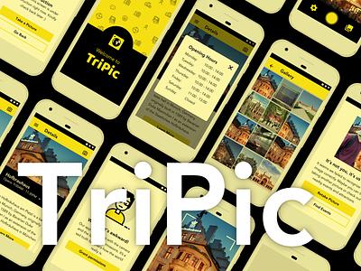 Tripic mobile app illustration ux ui