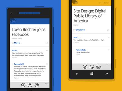 Designer News Articles - Windows Phone