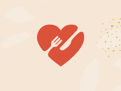 Perth Hospital Meals food dinner fork knife cutlery icon heart logo logo branding illustraion covid-19 coronavirus donation heart charity