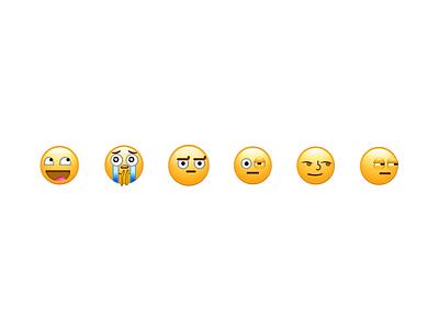 Memeojis character design emoji set emoji character faces emojis