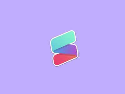 SameSame Stickers design vector ribbon gradient icon stickers gradient flat illustration logo branding