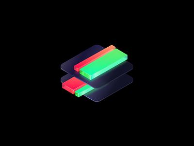 SameSame - Alt Logo Concept glassy gradients 3d glass illustration design vector icon app application logo branding
