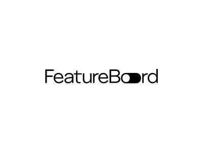FeatureBoard - Logo Promo vector illustration minimal design typography icon logo branding animation