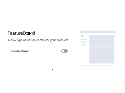 FeatureBoard - Initial Landing Page toggle switch switch toggle interactive website minimal animation web design ui application branding
