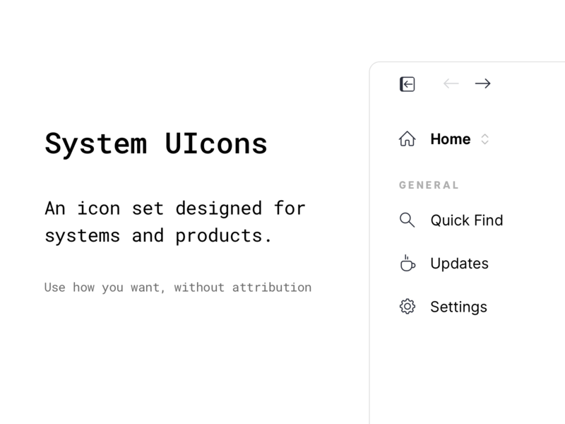 System UIcons - Free Icon Set web icon svg vector iconography icons pack system product ui iconset icons
