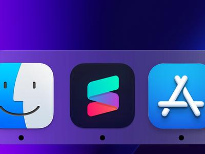 SameSame Big Sur Icon Concept iridescent rainbow bright big sur neon branding design icon app