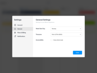Blocks - Settings Modal