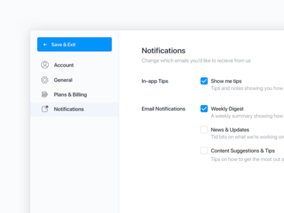 Blocks - Settings Page