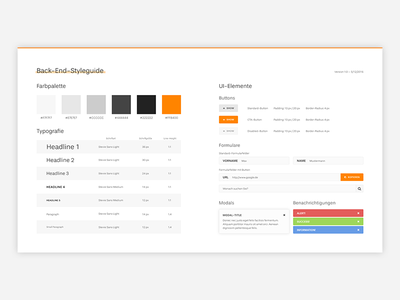 Small Back-End-Styleguide typography form back-end ui modern flat clean styleguide
