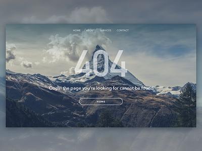 Daily UI #008 - 404 website ios error web design dailyui 404