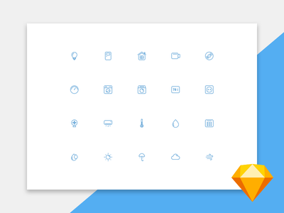 UI icons free download for Sketch smart home weather set web vector freebie free ui icons sketch