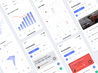 Platform for personalized distant trainings. design graphic interface training mobile ios figma ui ux dashboad calendar chart analitycs platform fitness app