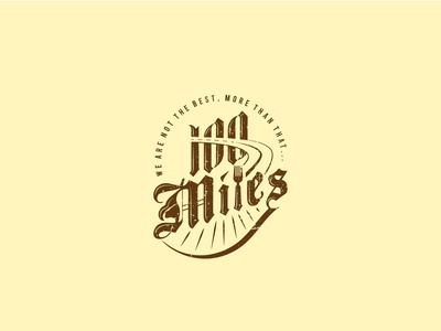 100 Miles Fast food shop Logo Concept