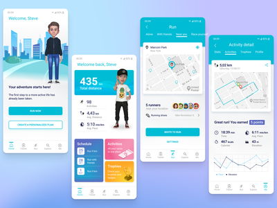 RUNNER App android ios app design health sports running ux ui app mobile design