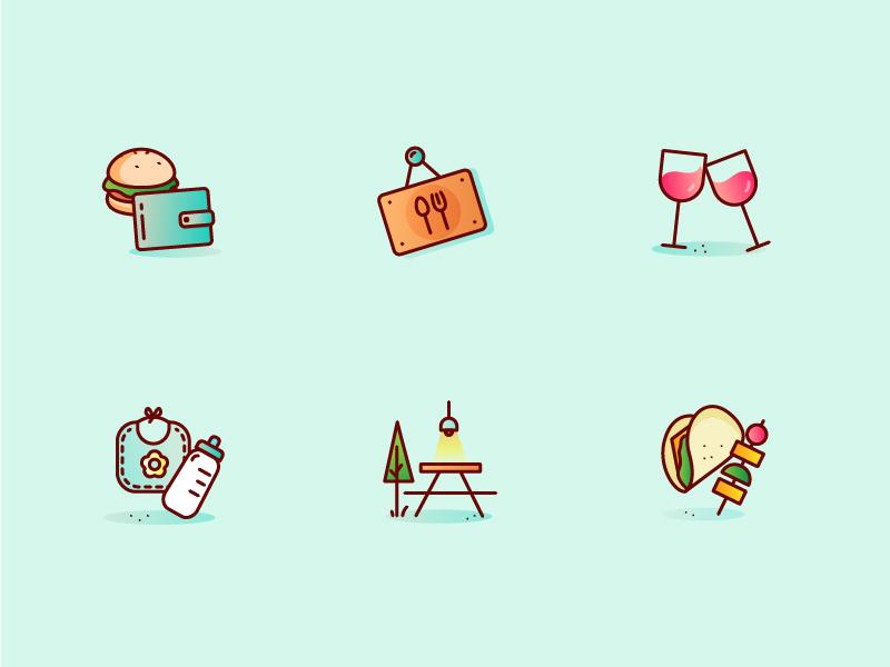 Restaurant Preferences Icons