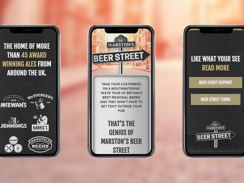 Beerstreet website micro site street brewery scheme loyalty beer