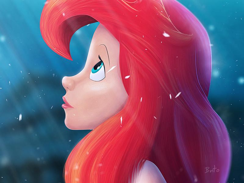 Ariel The Little Mermaid the little mermaid ariel digital painting artwork illustration disney draw drawing painting