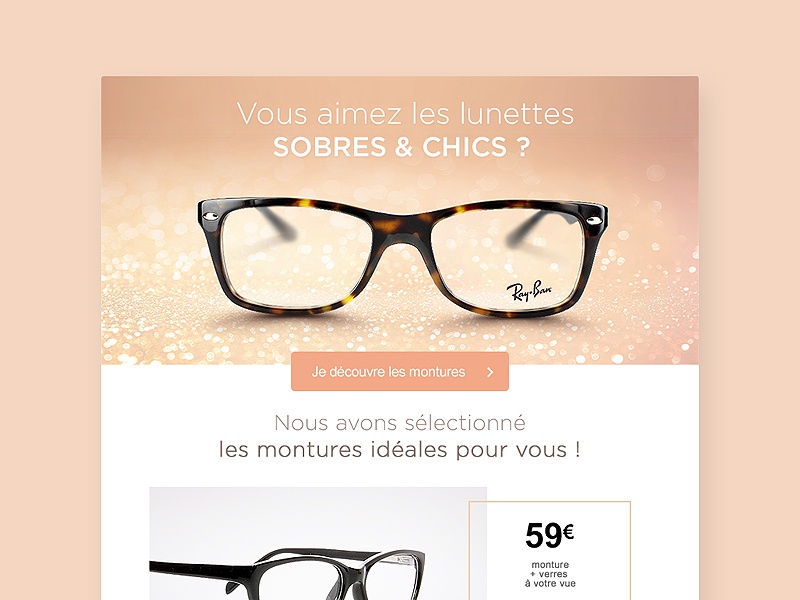 Email Newsletter eyeglasses glasses white clean ui ux inspiration newsletter email