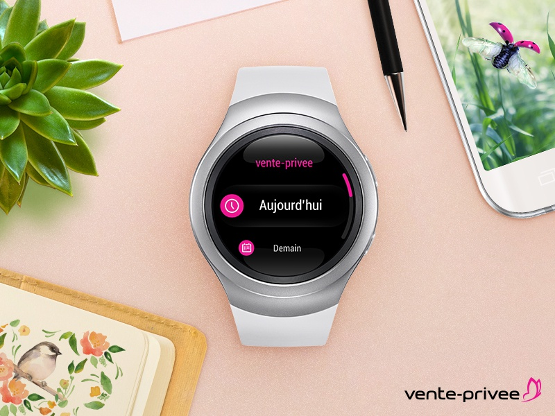 App Samsung GEAR S2 samsung gear clean pink ui ux e-commerce interface watch android app