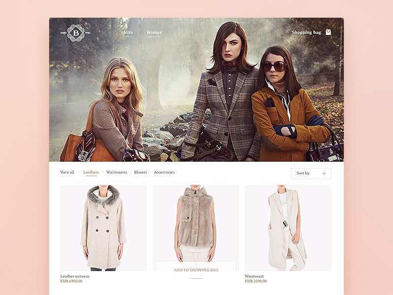 Brunello C. WIP inspiration luxury fashion catalog store shop e-commerce clean interface ui ux